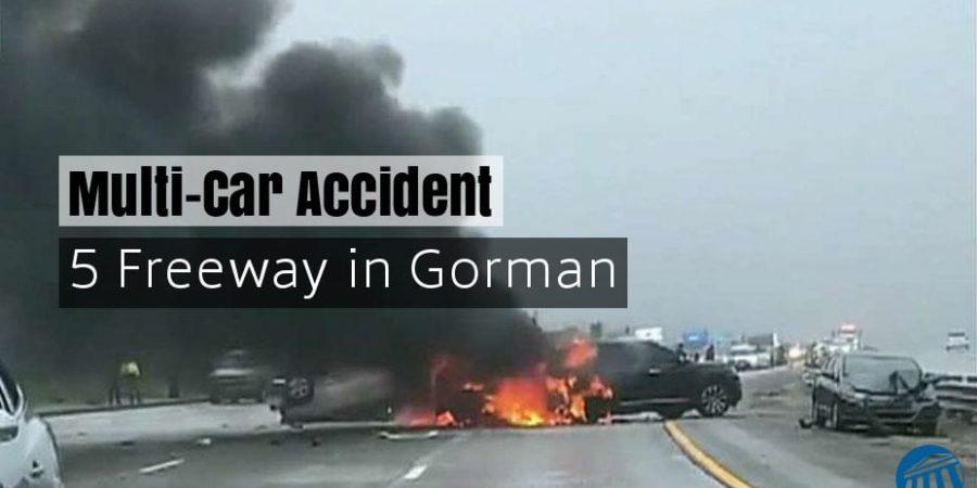 Multi-vehicle pile up on 5 Freeway in Gorman
