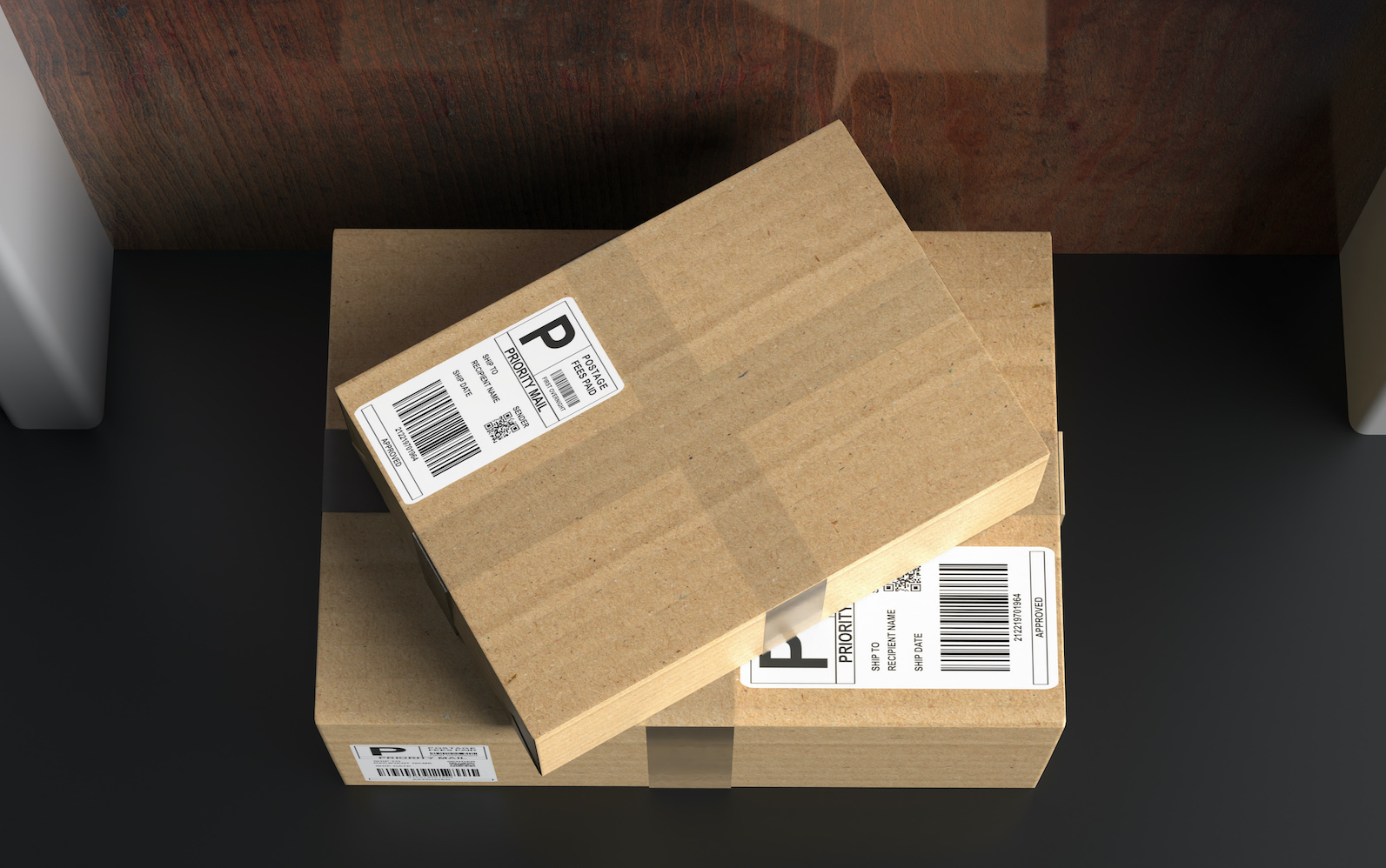 package delivery on doorstep